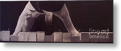 Tickling The Ivory Too Metal Print by Wil Golden