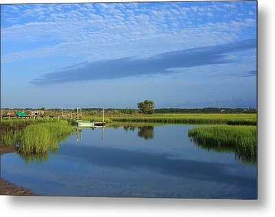 Tidal Marsh At Wrightsville Beach Metal Print by Mountains to the Sea Photo