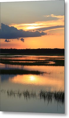 Tidal Marsh- Wilmington Nc Metal Print by Mountains to the Sea Photo