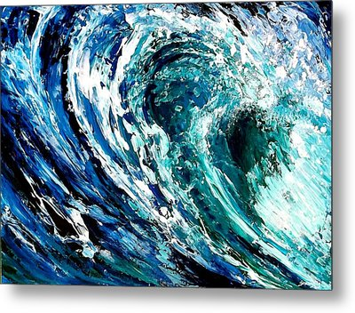 Tidal Wave Metal Print by Suzanne King
