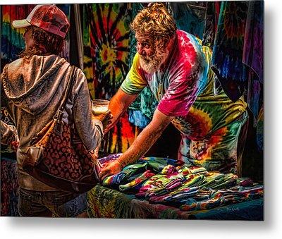 Tie Dye Guy Metal Print by Bob Orsillo