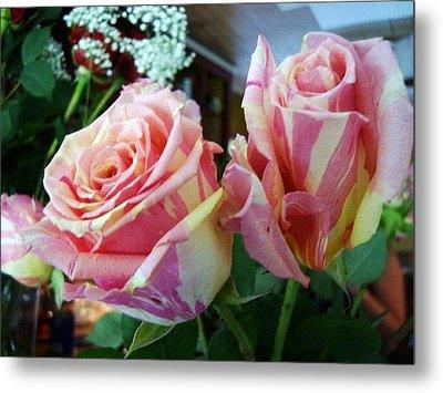 Tie Dye Roses Metal Print