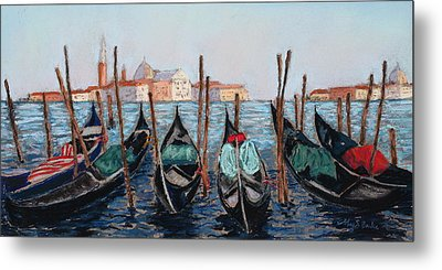 Tied Up In Venice Metal Print
