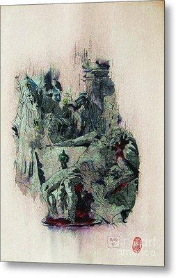 Tiepolos  Death Of Seneca Metal Print by Roberto Prusso