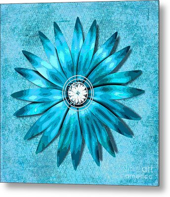 Tiffany Blue And Diamonds Too Metal Print by Saundra Myles