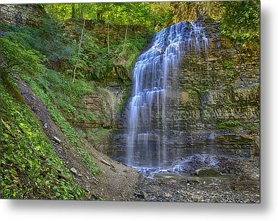 Metal Print featuring the photograph Tiffany Falls In Summer by Gary Hall