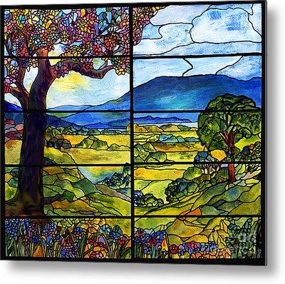 Tiffany Minnie Proctor Window Metal Print by Donna Walsh
