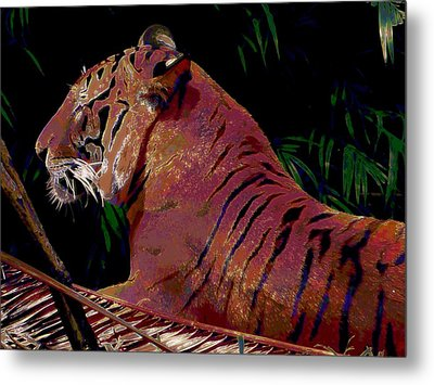 Metal Print featuring the painting Tiger 2 by David Mckinney