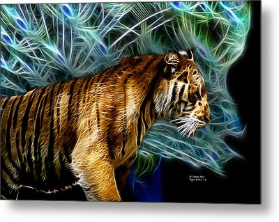 Tiger 3921 - F Metal Print by James Ahn