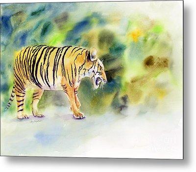 Tiger Metal Print by Amy Kirkpatrick