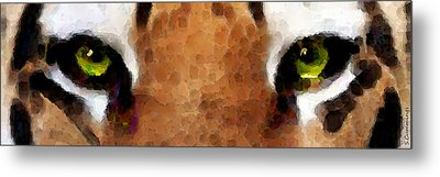 Tiger Art - Hungry Eyes Metal Print