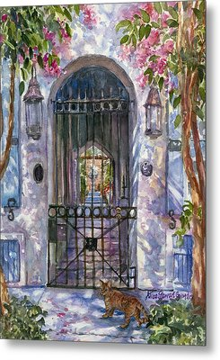 Tiger At The Gate Metal Print by Alice Grimsley