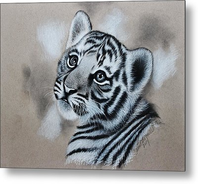 Tiger Cub Metal Print by Samantha Howell