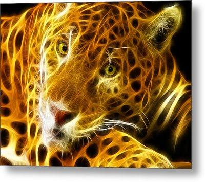 Tiger Face  Metal Print by Mark Ashkenazi