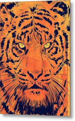 Tiger Metal Print by Giuseppe Cristiano