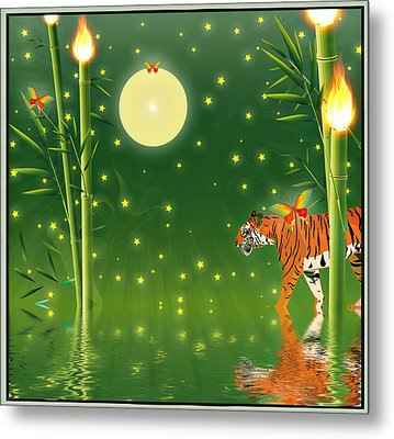 Tiger Hour Metal Print
