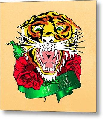 Tiger L Metal Print