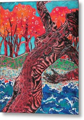 Tiger Lady Metal Print by Diane Fine