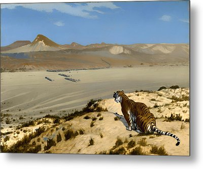 Tiger On Watch Metal Print by Mountain Dreams