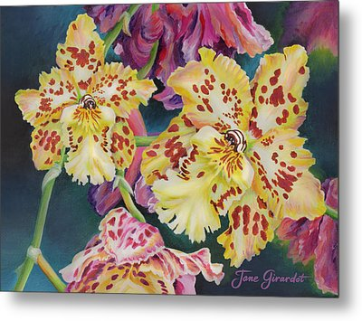 Tiger Orchid Metal Print by Jane Girardot