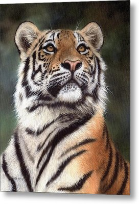 Tiger Painting Metal Print