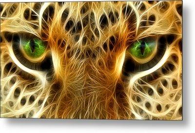 Tiger Portrait  Metal Print by Mark Ashkenazi