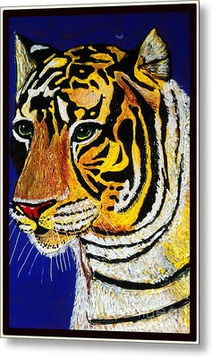 Tiger Metal Print by Saundra Myles