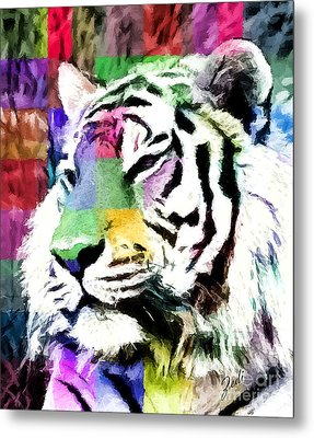 Tiger - Tigre Metal Print by Ze  Di