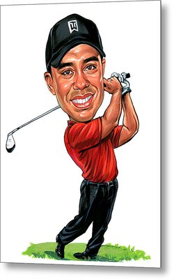 Tiger Woods Metal Print by Art