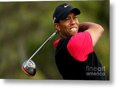 Tiger Woods Golf Metal Print by Lanjee Chee