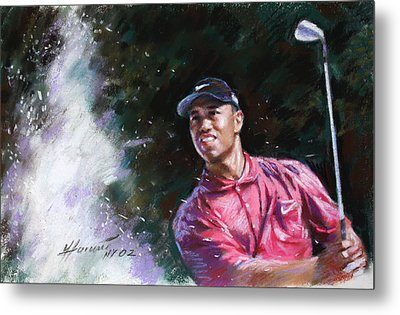 Tiger Woods  Metal Print by Viola El