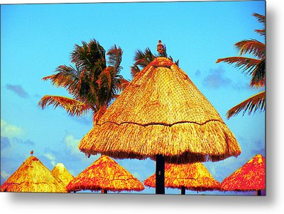 Metal Print featuring the photograph Tiki Huts by J Anthony