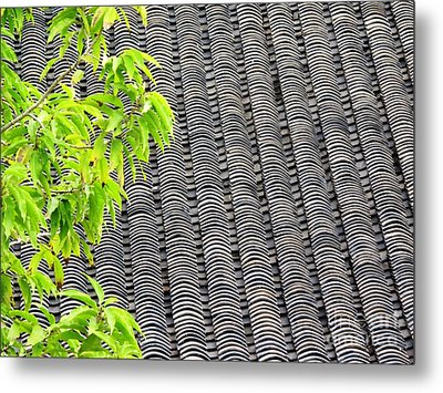 Tiled Roof Metal Print by Ethna Gillespie