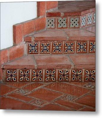 Tiled Stairway Metal Print