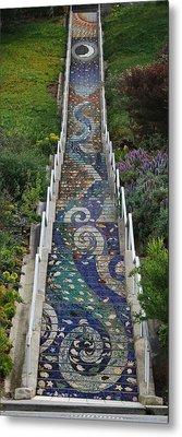 Tiled Steps Metal Print