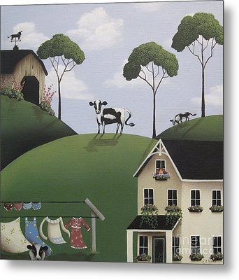 Till The Cows Come Home Metal Print by Catherine Holman