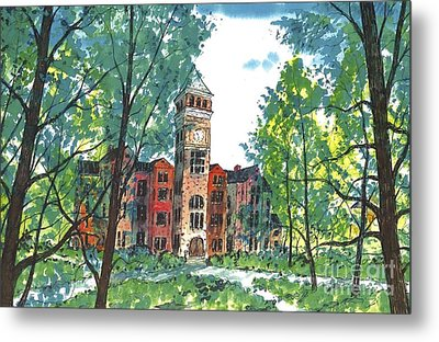 Tillman Hall Two Clemson Metal Print