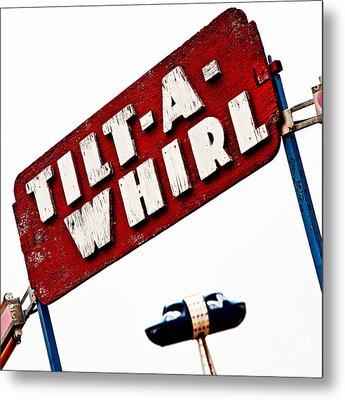 Tilt-a-whirl Metal Print by Pattie Calfy