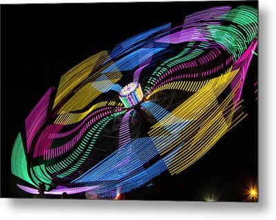 Metal Print featuring the photograph Tilt A Whirl by Steven Bateson