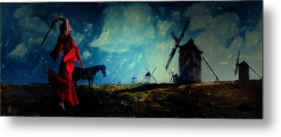 Tilting At Windmills Metal Print by Galen Valle