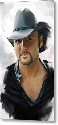 Tim Mcgraw Artwork Metal Print
