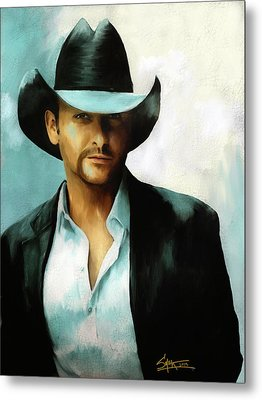 Tim Mcgraw Metal Print