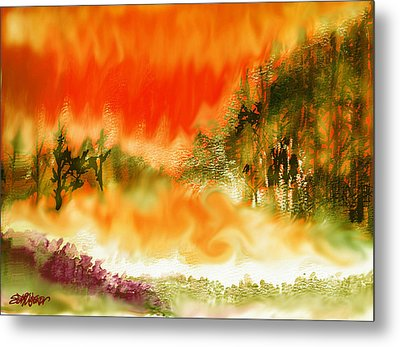 Metal Print featuring the mixed media Timber Blaze by Seth Weaver