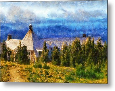 Timberline Lodge Metal Print