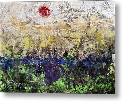 Metal Print featuring the painting Time And Place by Ron Richard Baviello