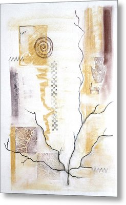 Time Branching Metal Print by Diana Perfect