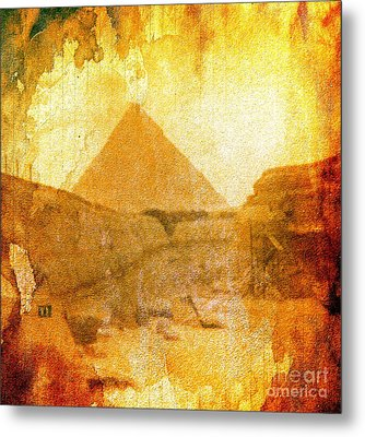 Time Fears The Pyramids Metal Print
