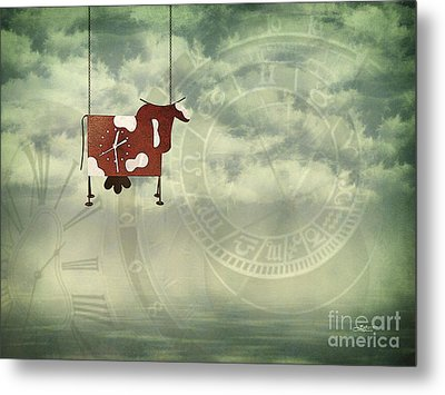 Time Flies Metal Print by Jutta Maria Pusl