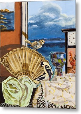 Metal Print featuring the painting Time Flies by Susan Culver