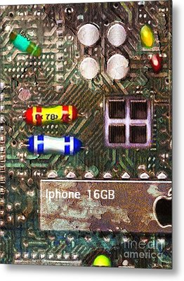 Time For An Iphone Upgrade 20130716 Metal Print by Wingsdomain Art and Photography